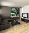Apartment with a TV (focus)