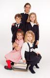 Schoolchildren portrait poster