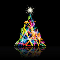 Abstract Christmas lunch # Vector