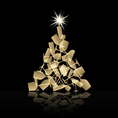 Abstract Christmas toast # Vector