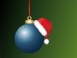 Christbaumkugel mit Weihnachtsmütze