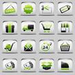 button White_green Shopping