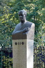Monument to the Soviet physicist Pyotr Kapitsa in Kronstadt