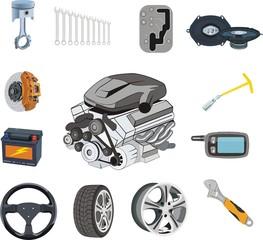 Auto Parts set