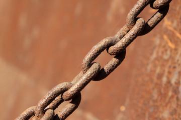 rust iron chains