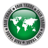 """FAIR TRADE"" label (stamp workers price sugar coffee)"