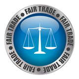 « FAIR TRADE » label (stamp equitable commerce organic)