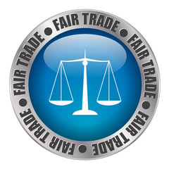 « FAIR TRADE » label (stamp equitable commerce organic)