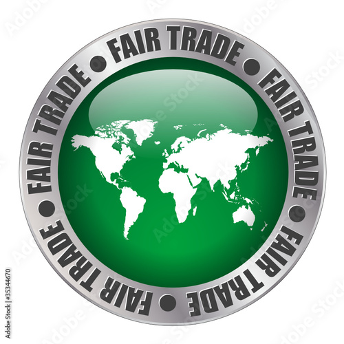 """""""FAIR TRADE"""" label (stamp workers price sugar coffee)"""