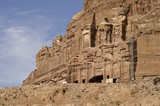 Royal tombs. The Monastery Petra in Jordan
