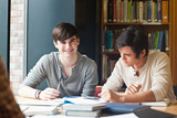 Fototapety Young men studying