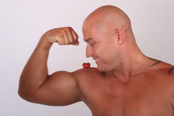 erdbeere und muskeln