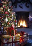 Fototapety Christmas Tree and Christmas gift