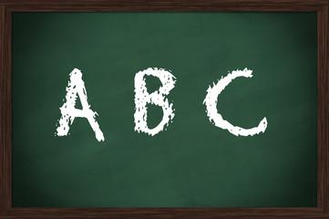 Kreidetafel ABC