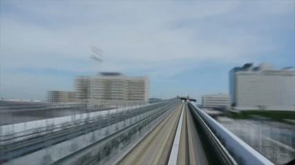 列車の早送り映像、東京