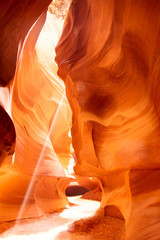 Sunbeam in Upper Antelope Canyon, USA