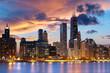 Leinwanddruck Bild - Chicago Skyline