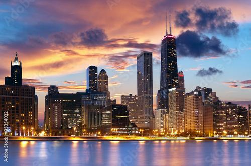 Leinwanddruck Bild Chicago Skyline