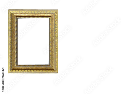 Simple golden frame