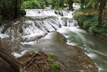Waterfall at the Monasterio de Piedra Natural Park