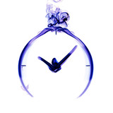 Clock the blue smoke