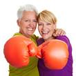 Zwei boxende Frauen