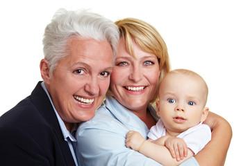 Portrait einer glücklichen Familie