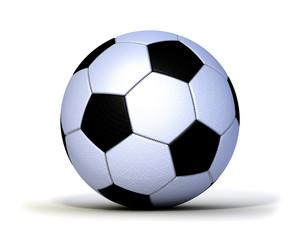 Fußball genäht Leder Gewebe freigstellt