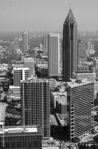 Naklejka Black and White Atlanta