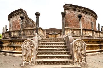 vatadage, circular relic house, polonnaruwa, sri lanka