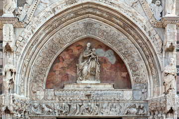 The cathedral of Messina: details