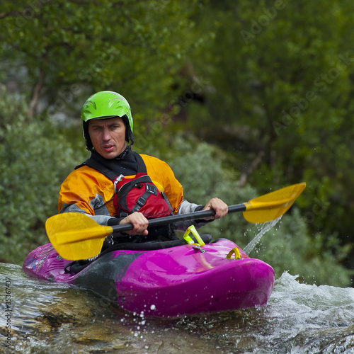 Kayaker's portrait