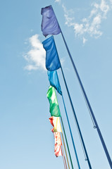 rainbow colored flags