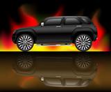 Black sports utility vehicle