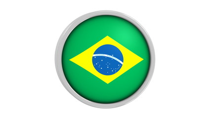 Brazilian flag with circular frame