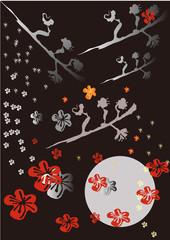 梅の花と梅の枝 japanese aplicot,ume brossam