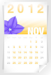 2012 Floral November Calendar