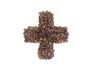 symbol of the addiction to coffee made with beans