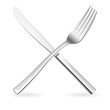 Crossed fork and knife.