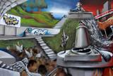 Fototapete Luft - Kunst - Graffiti