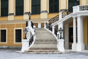 Staircase of Schonbrunn castle