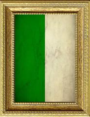 Bandiera dell'Algeria incorniciata