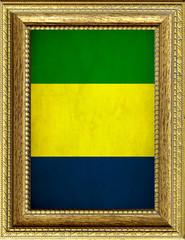 Bandiera del Gabon incorniciata