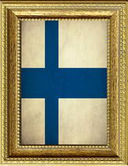 Bandiera della Finlandia incorniciata