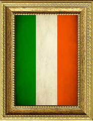 Bandiera dell'Irlanda incorniciata