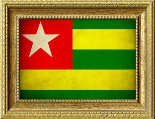 Bandiera del Togo incorniciata