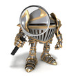 Knight with magnifying glass
