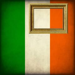 Bandiera dell'Irlanda con cornice personalizzabile