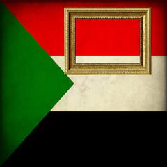 Bandiera del Sudan con cornice personalizzabile