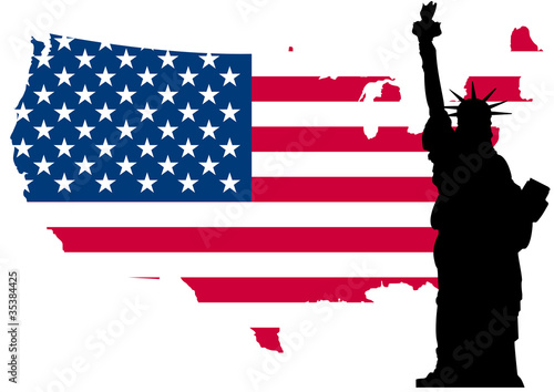 Fototapeten,usa,fahne,american,statuen